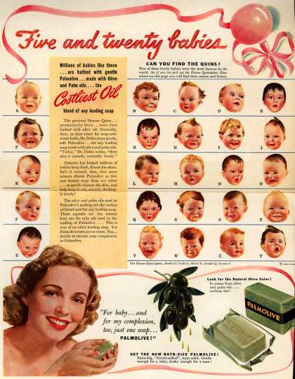 Palmolive Company's Palmolive Soap – Five and twenty babies (1941)