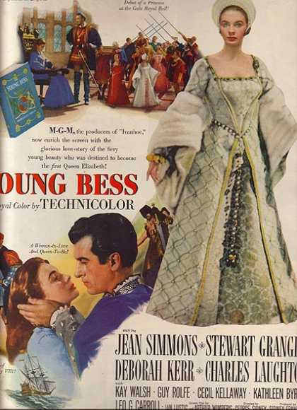 Young Bess (Jean Simmons, Stewart Granger, Deborah Kerr and Charles laughton) (1953)