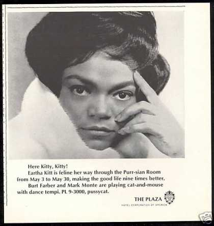 Eartha Kitt NYC New York Plaza Hotel (1967)