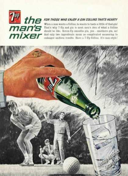 7up 7-up the Man's Mixer Golf Theme 7 Up (1963)