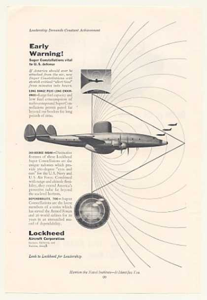 Lockheed Super Constellation Aircraft Defense (1953)