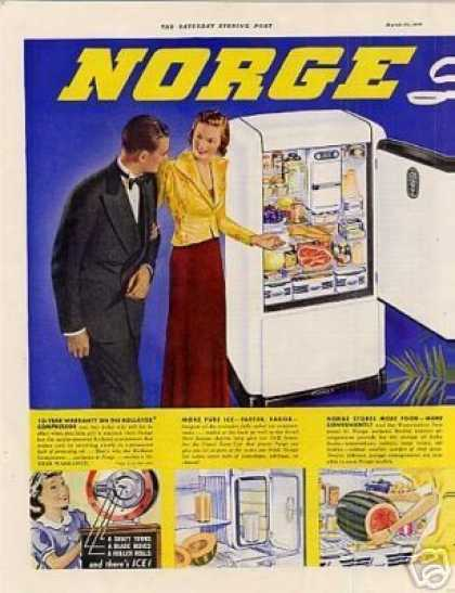 Norge Appliances Color Ad Centerfold (1938)