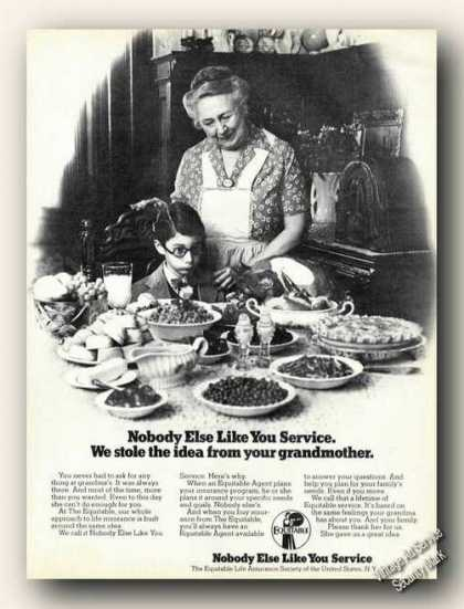 Equitable Nobody Else Like You Service Advertising (1978)