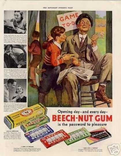 Beech-nut Gum Color (1938)