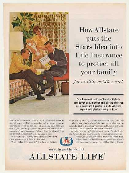 Allstate Sears Idea Life Insurance Family (1963)