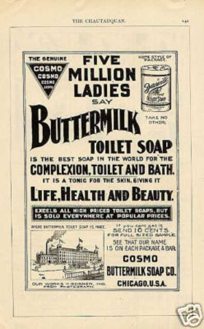 Cosmo Buttermilk Toilet Soap (1897)