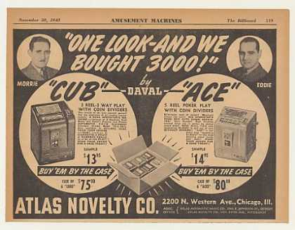 Atlas Novelty Daval Cub Ace Slot Machines (1940)