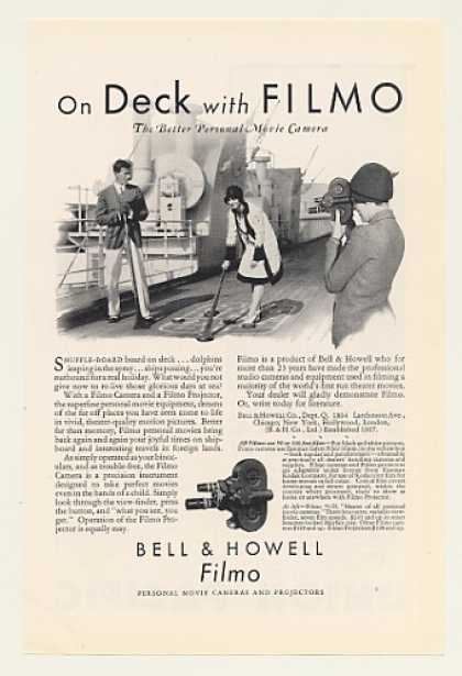 Shuffleboard on Ship Deck Bell & Howell Filmo (1930)