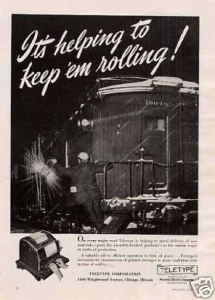 "Teletype Ad ""It's Helping To Keep... (1942)"
