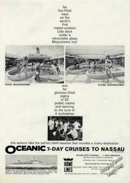 Oceanic 7-day Cruises To Nassau Photos Travel (1966)