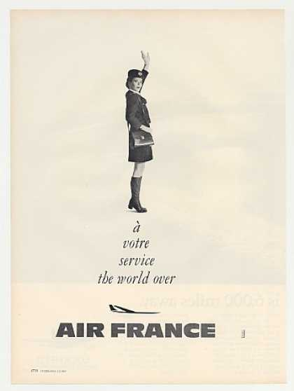 Air France Airlines Service Stewardess Photo (1969)