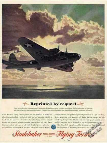 Wwii Flying Fortress Picture Studebaker (1943)