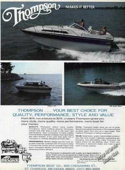Thompson 16' Run-a-bouts To 30' Cruisers (1985)