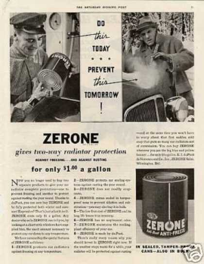 Dupont Zerone Anti-freeze (1934)