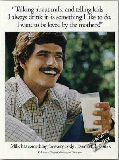 "Mark Spitz Photo ""Milk for Every Body"" (1973)"