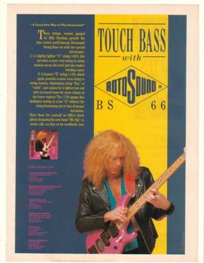Billy Sheehan Photo Rotosound Strings (1989)