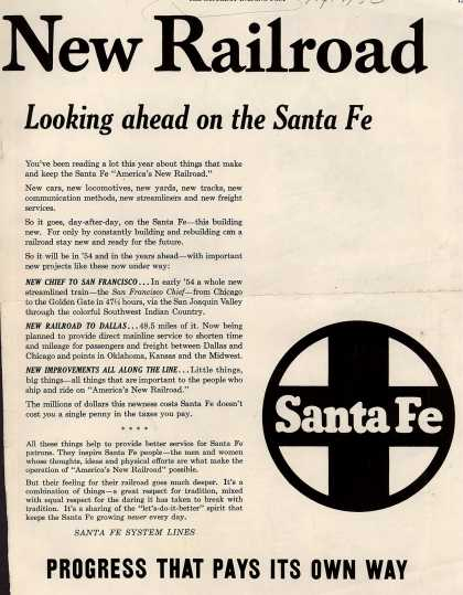 Santa Fe System Line's New Railroad – New Railroad (1953)