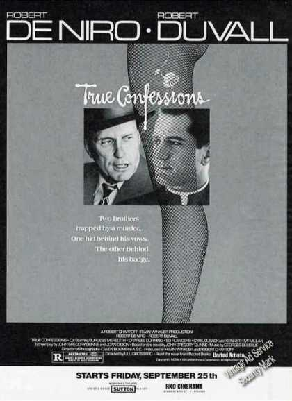 "Deniro & Duvall ""True Confessions"" Movie (1981)"