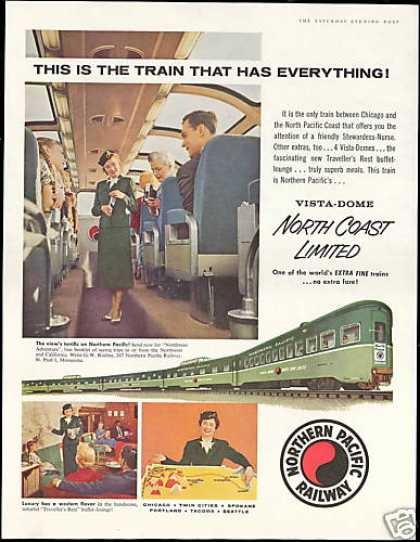 Northern Pacific Railway Train Stewardess Nurse (1956)
