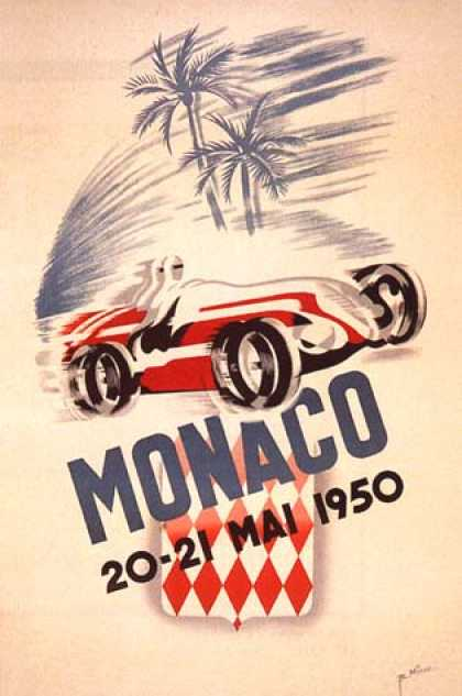Monaco Grand Prix by B. Minne (1950)