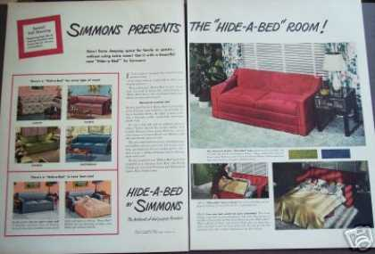 Simmons Hide-a-bed Retro Decor Original (1947)