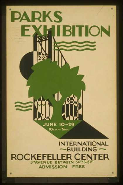 Parks exhibition – International Building, Rockefeller Center / executed by Mayor's Poster Project. (1936)