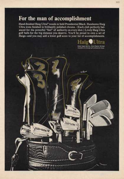 Haig Ultra Golf Clubs Ultra Woods Irons (1966)