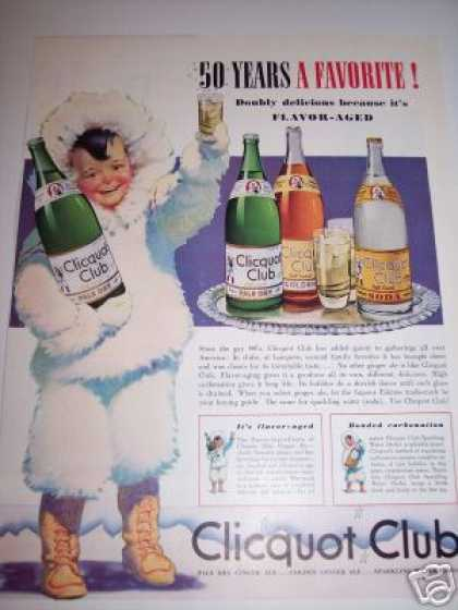 Clicquot Club Soda Eskimo Boy Art (1940)