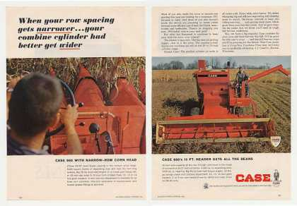 Case 960 660 Combine Color Photo 2-Page (1966)