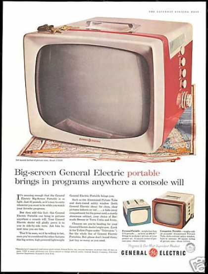 GE General Electric TV Portable Television (1956)