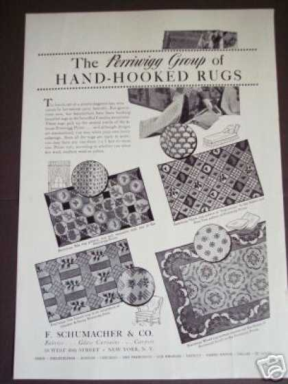 Perriwigg Prints Group of Hand Hooked Rugs (1937)