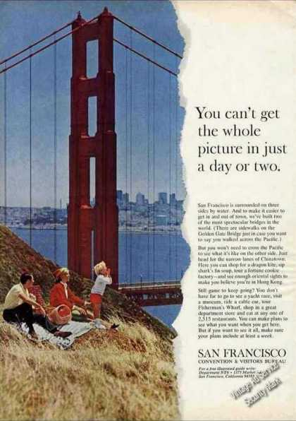 Golden Gate Bridge San Francisco Travel (1966)