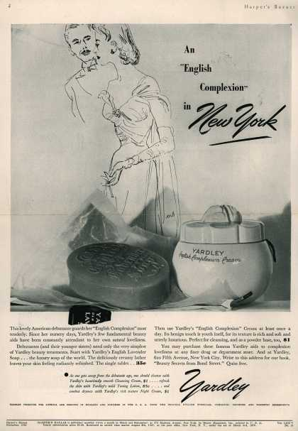 "Yardley of London's Yardley's English Lavender – An ""English Complexion"" in New York (1940)"