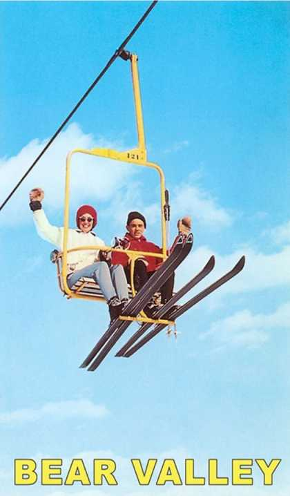 Couple on Ski Lift, Bear Valley