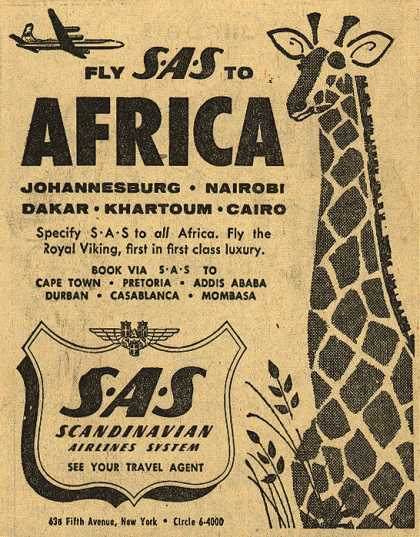 Scandinavian Airlines System's Africa – Fly SAS to Africa (1954)