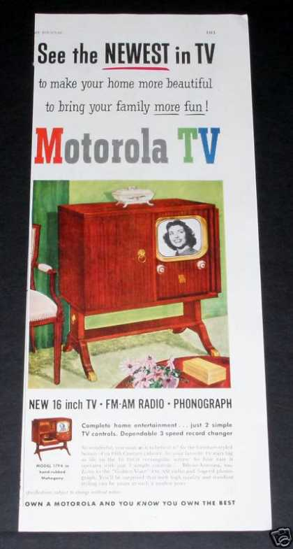 "Motorola 16"" Tv, Family Fun (1950)"