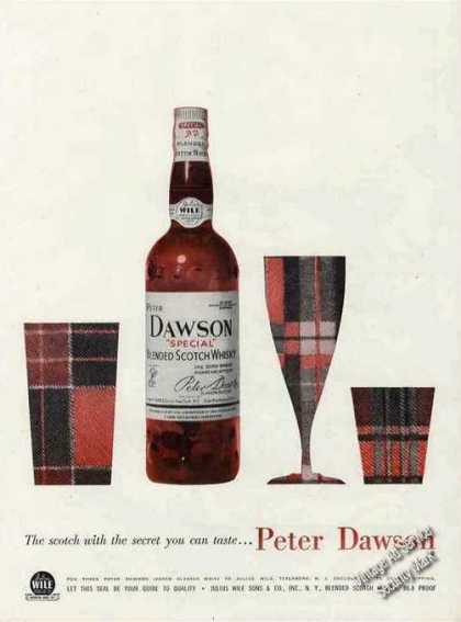 "Peter Dawson Scotch ""Secret You Can Taste"" (1957)"