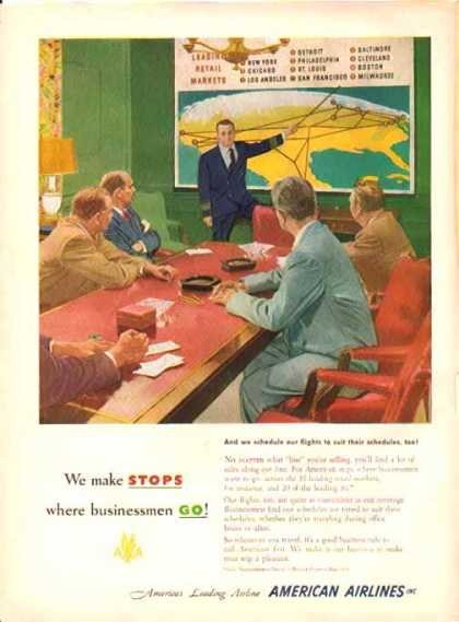 American Airlines – Stops where businessmen Go (1951)