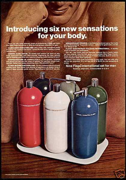 Nine Flags Body Sensations Bottle Photo (1969)