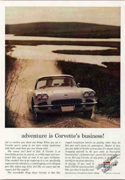 """Adventure Is Corvette's Business!"" Car (1960)"