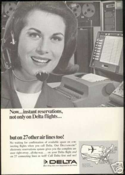 Delta Airlines Flight Reservations Deltamatic (1966)