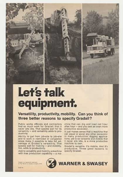 Warner & Swasey Gradall Excavator Photo (1978)