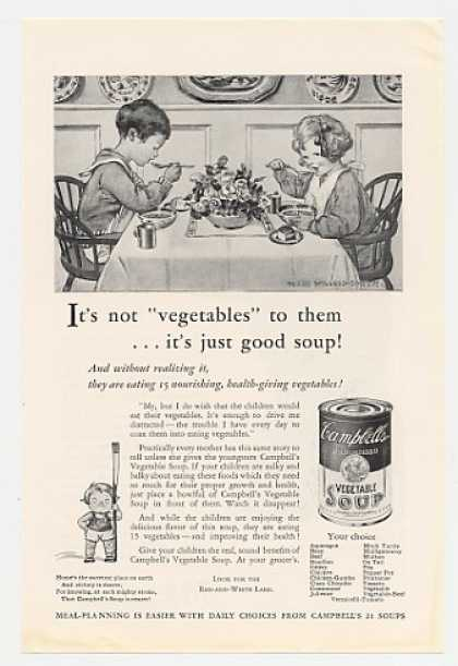 Campbell's Vegetable Soup Jessie Willcox Smith (1931)