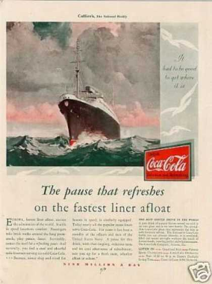 "Coca-cola Color Ad ""The Pause That Refreshes... (1930)"