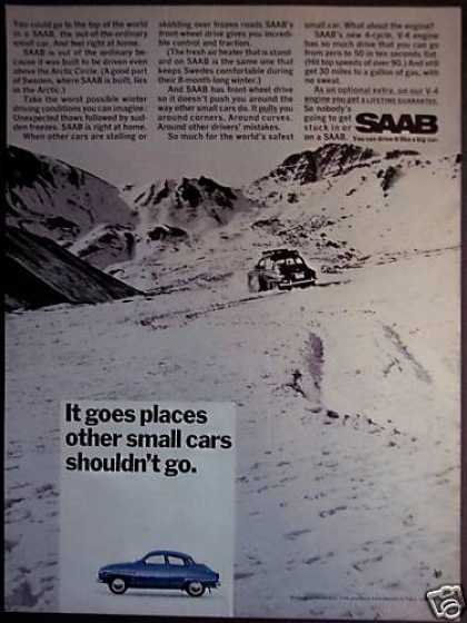 Saab Automobile Winter Driving Car (1968)
