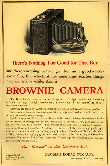Kodak's Brownie cameras – There's Nothing Too Good for That Boy (1909)