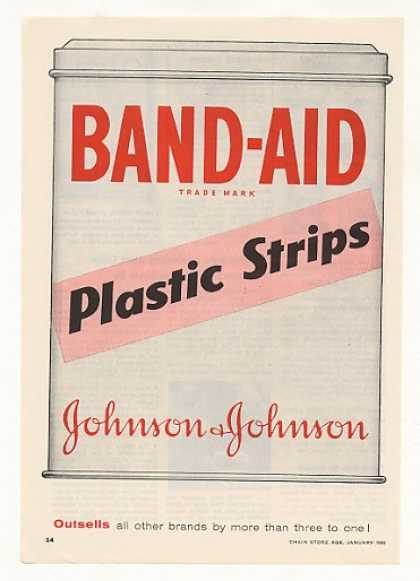 Johnson Band-Aid Plastic Strips Can (1956)