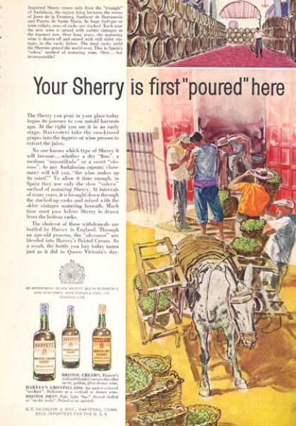 Harveys Bristol Cream Sherry Art (1960)