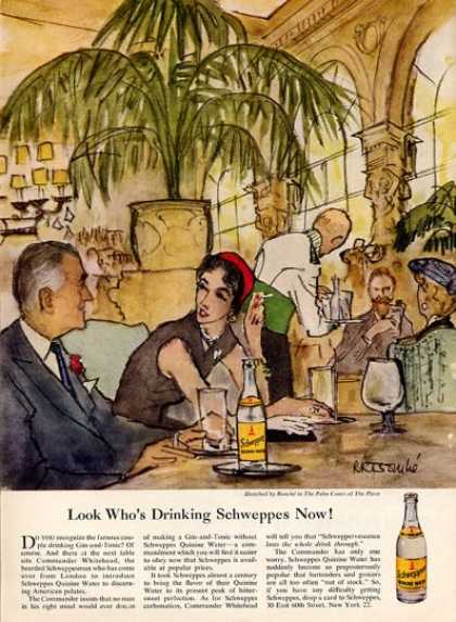 Schweppes Bouche' Palm Court @ the Plaza (1953)