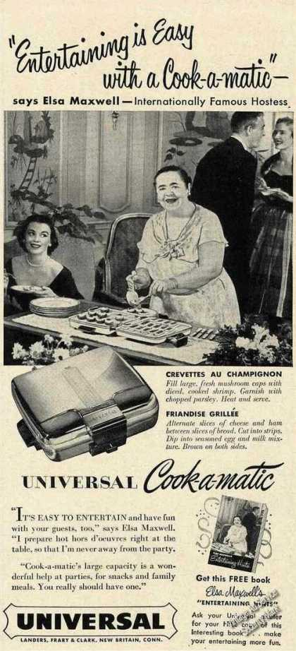 Elsa Maxwell Photo Universal Cook-a-matic (1953)